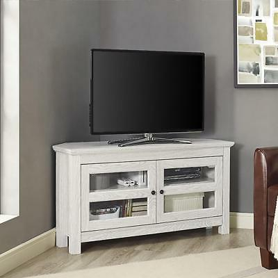 "Famous Large Corner Tv Stands For Walker Edison 44"" Wood Corner Tv Stand Media Storage Console In (View 5 of 20)"