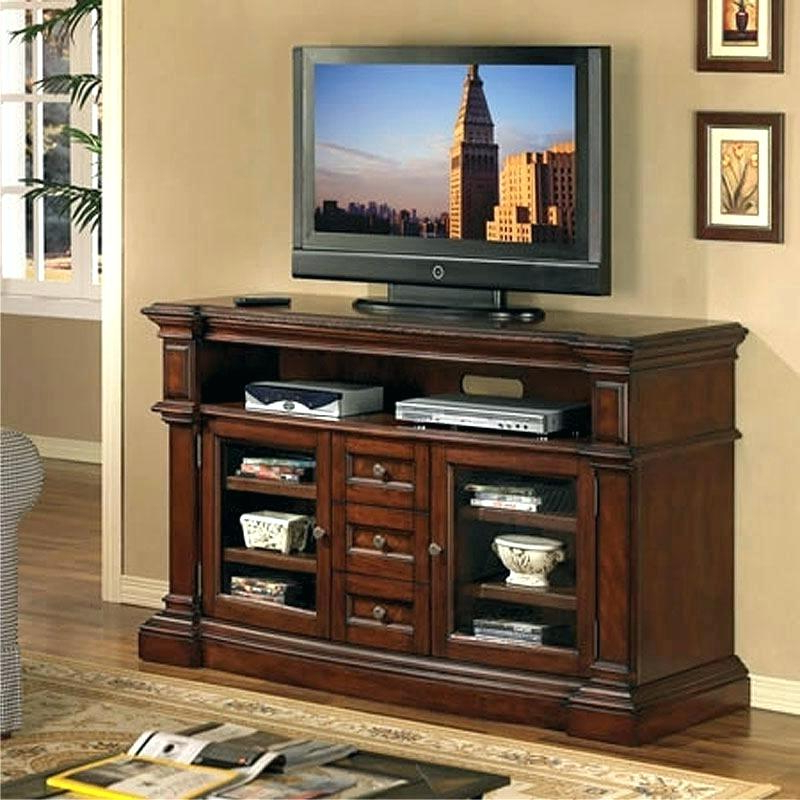 Famous Light Cherry Tv Stands Throughout Cherry Wood Tv Stand 4 Cherry Finish Wood Slim Profile Entertainment (View 5 of 20)