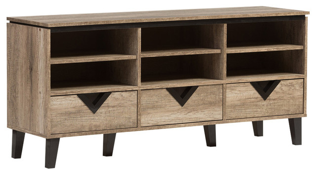 Famous Light Colored Tv Stands Regarding Wales Modern And Contemporary Wood Tv Stand – Transitional (View 4 of 20)