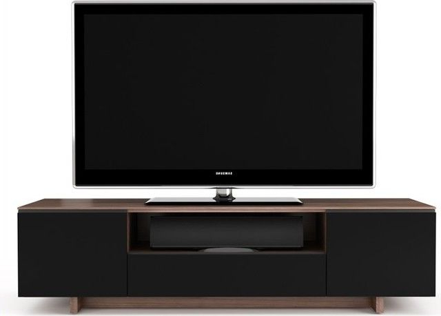 Famous Low Profile Contemporary Tv Stands Throughout Walnut Media Center, Tv Cabinet, Tv Stand, Low Profile, And Tv (View 16 of 20)