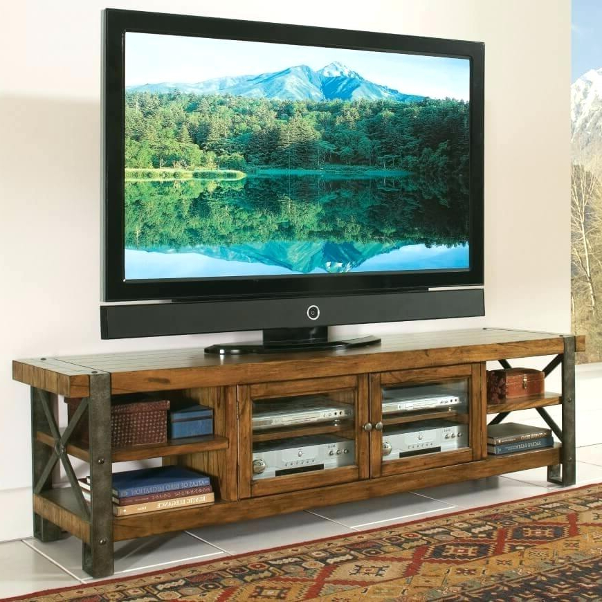 Famous Low Profile Tv Stands For Flat Screens Stand Modern Grey – Trains Regarding Rustic Looking Tv Stands (View 6 of 20)