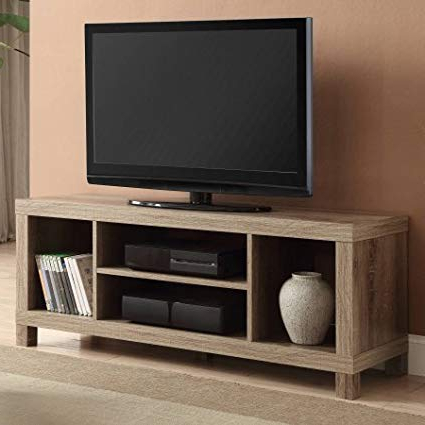 Famous Oak Tv Stands With Regard To Amazon: Cross Mill Tv Stand (Rustic Oak, 47.24 X 15.75 X  (View 6 of 20)