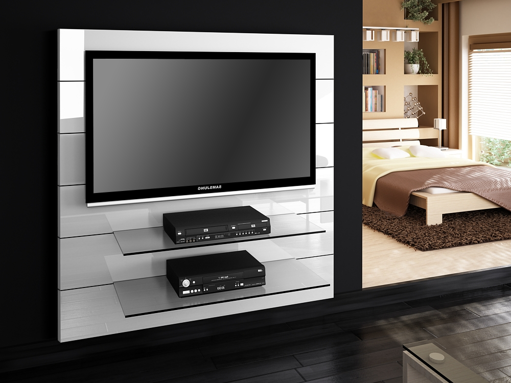 Famous Panorama White Gloss Tv Stands (View 4 of 20)