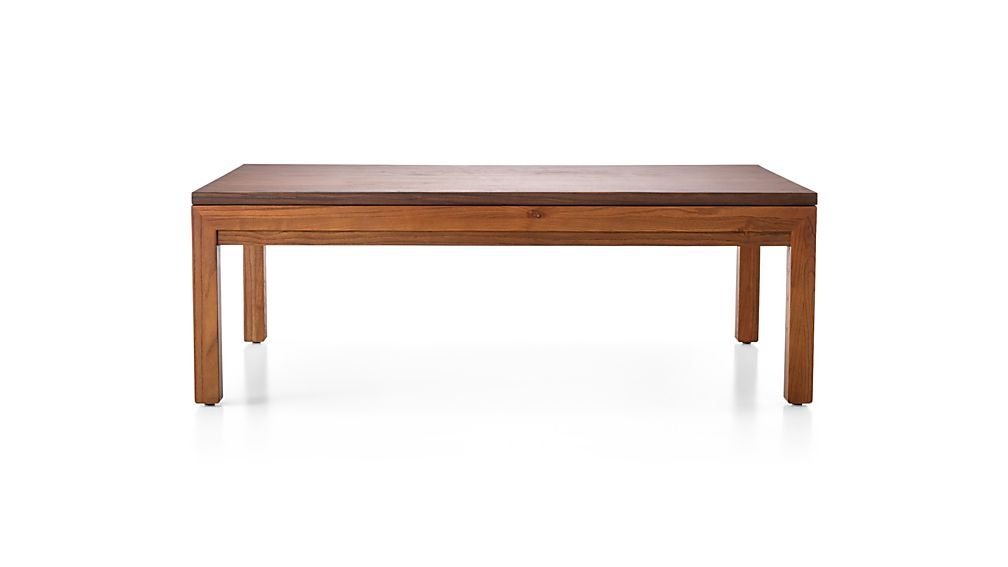 Famous Parsons Walnut Top & Dark Steel Base 48x16 Console Tables Pertaining To Parsons Walnut Top/ Elm Base 48x28 Small Rectangular Coffee Table + (View 5 of 20)