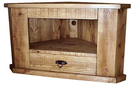 Famous Pine Corner Tv Stands Pertaining To Rough Sawn Solid Handmade Pine Corner Tv Unit Stand Rustic (View 6 of 20)