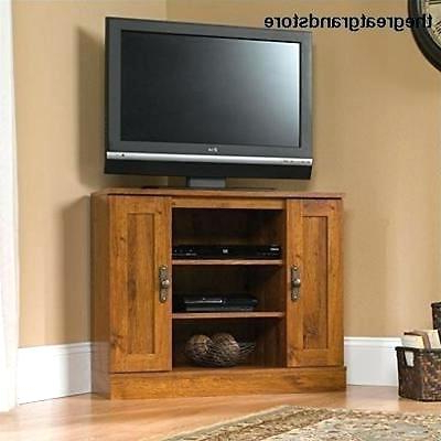 Famous Rustic Corner Media Cabinet Oak Brass Stacking Media Console Office With Regard To Oak & Brass Stacking Media Console Tables (View 6 of 20)