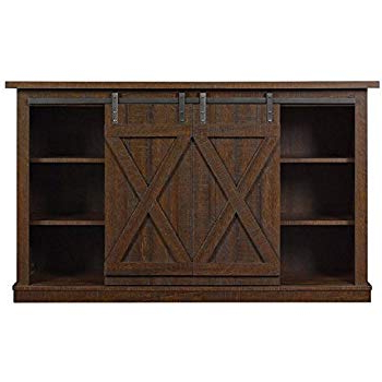 """Famous Rustic Looking Tv Stands In Amazon: Bluestone Rustic Wood 54"""" Tv Stand (Espresso): Kitchen (View 7 of 20)"""