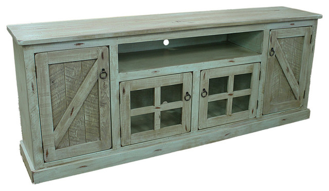 Famous Rustic Tv Stands Within Agatha Rustic Tv Stand – Farmhouse – Entertainment Centers And Tv (View 8 of 20)