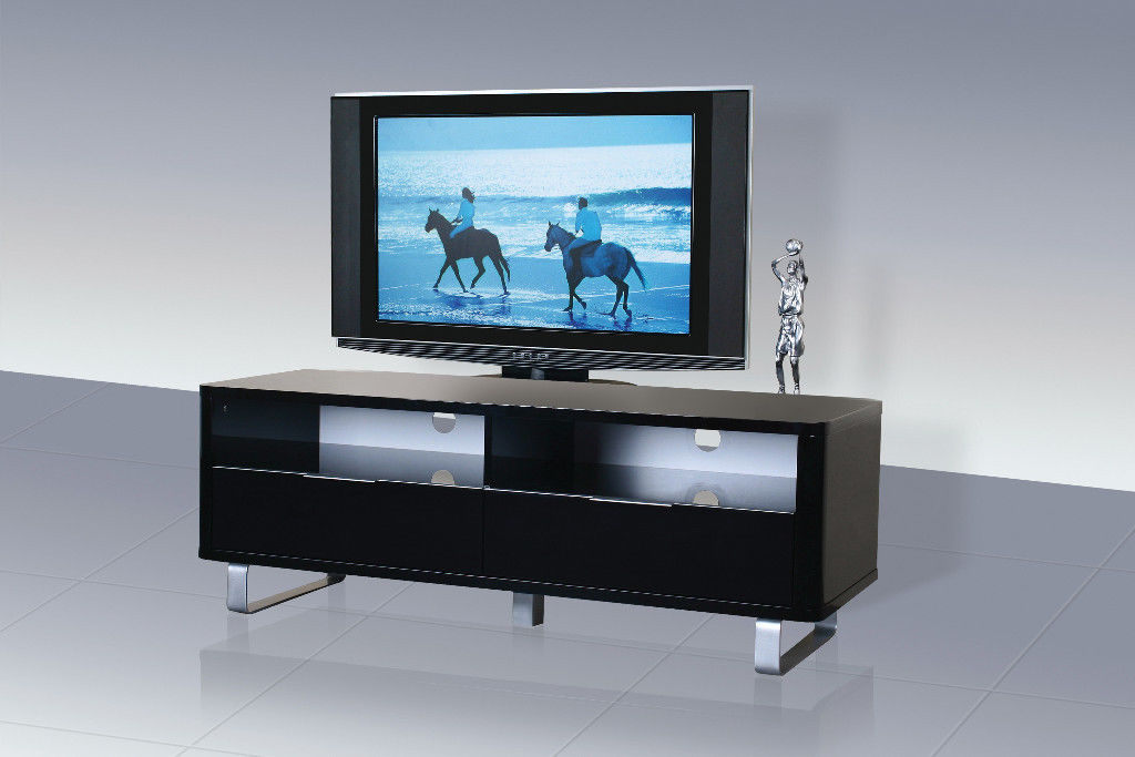 Famous Shiny Black Tv Stands Regarding Accent, Tv Unit, High Gloss, Shiny, Black, Chic Design, Modern (View 6 of 20)