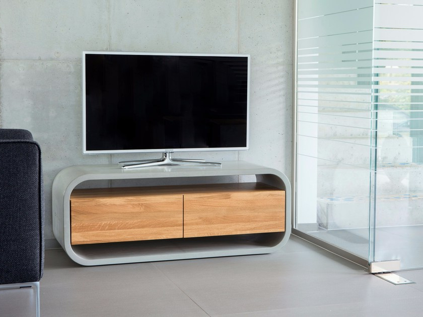 Famous Sideboard Tv Stands For Concrete Sideboard / Tv Stand With Wood Insert Opus Videro Lignum (View 5 of 20)