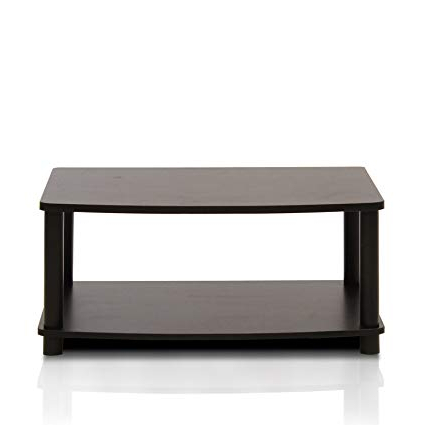 Famous Sinclair Blue 54 Inch Tv Stands Regarding Amazon: Furinno 13191Ex/bk Turn N Tube No Tools 2 Tier Elevated (View 3 of 20)