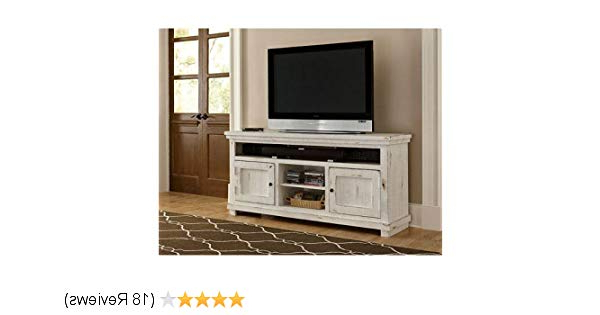 Famous Sinclair White 68 Inch Tv Stands With Regard To Amazon: Progressive Furniture P610e 64 Willow Console, (View 19 of 20)