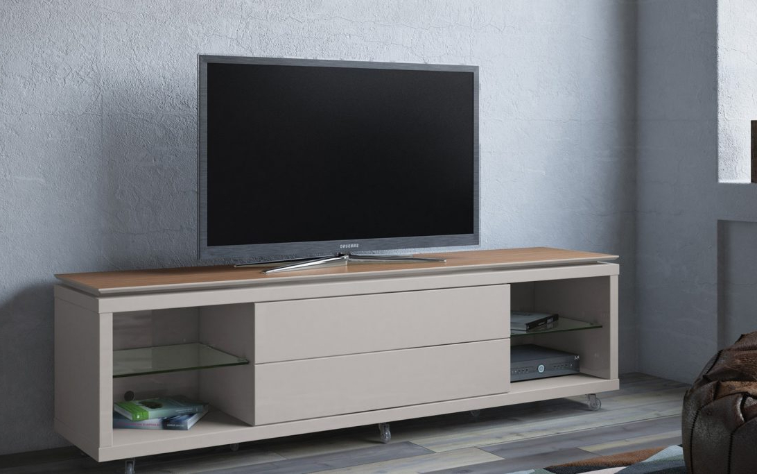 Famous Solid Maple Tv Stand Light Oak Honey With Media Storage Sauder Regarding Maple Tv Stands For Flat Screens (View 5 of 20)