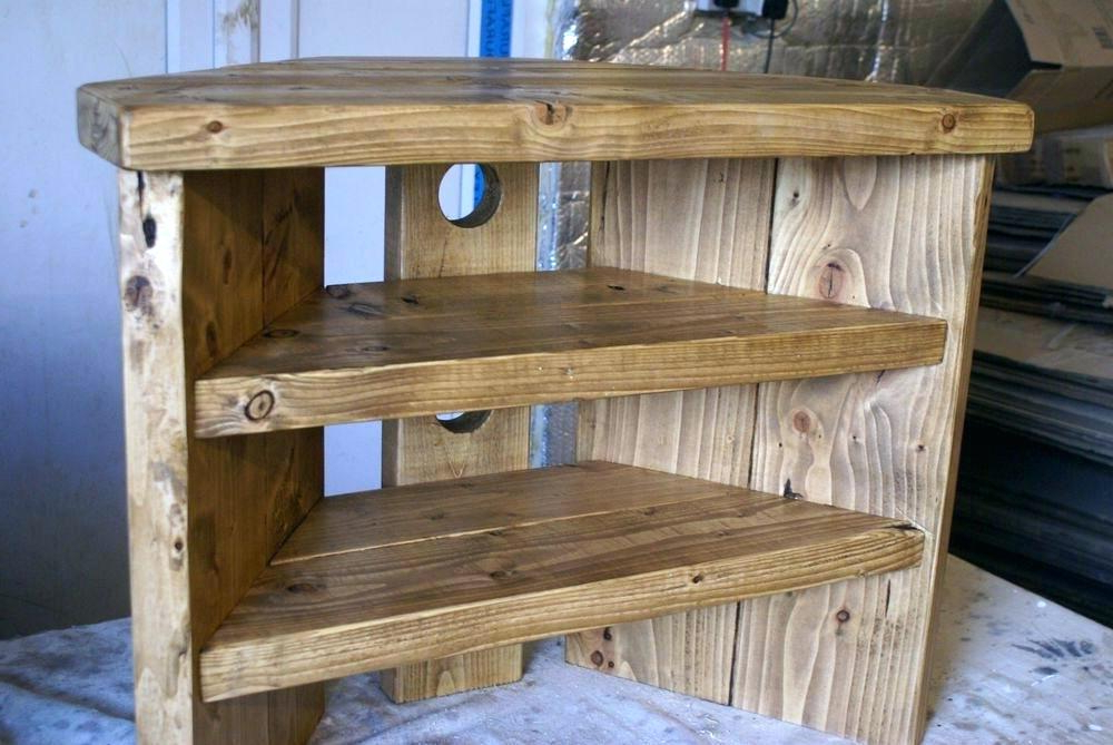 Famous Tv Stand Real Wood Rustic Corner Stand Rustic Corner Stand Solid Inside Wooden Corner Tv Stands (View 7 of 20)