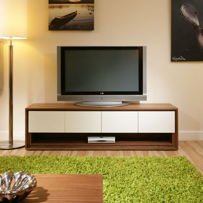 Famous Tv Stands And Cabinets In Large Tv/television Stand/cabinet/cabinets/unit Walnut / Off White (View 4 of 20)