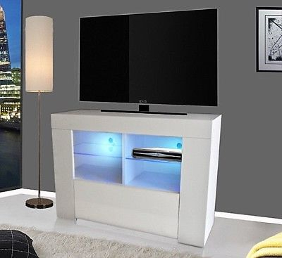 Famous Tv Unit 100cm For Modern Tv Unit 100cm Cabinet Stand White (View 12 of 20)