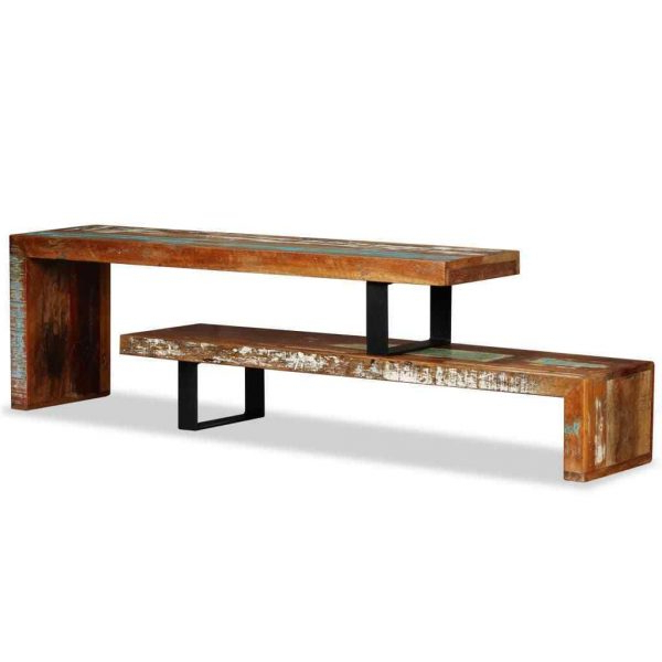 Famous Vintage Industrial Tv Stands Inside Vintage Industrial Tv Stand Solid Reclaimed Wood Handmade Rustic (View 2 of 20)