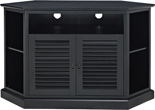 """Famous Walker Edison Tv Cabinet For Most Tvs Up To 60"""" Black Bb52Ccrbl For Black Corner Tv Stands For Tvs Up To  (View 10 of 20)"""