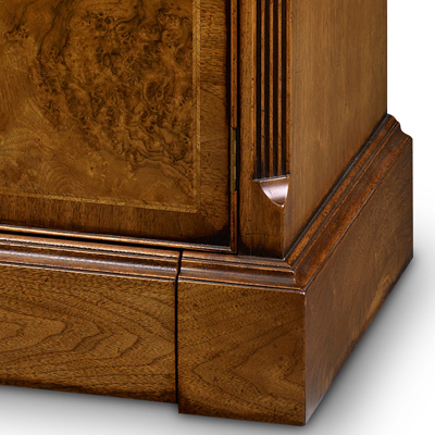 Famous Walnut Tv Cabinets With Doors Regarding Two Door Tv Cabinet With Shallow Front Storage Burr Walnut Amc (View 4 of 20)