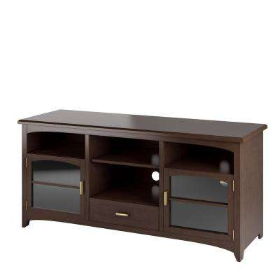 Famous Wood – Tv Stands – Living Room Furniture – The Home Depot With Regard To Dark Wood Tv Cabinets (View 10 of 20)