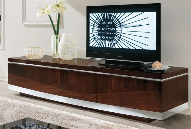 Fashionable Alf Uno Spa Garda Walnut Gloss Extra Long Tv Unit – Tv Cabinets Inside Long Tv Cabinets Furniture (View 3 of 20)