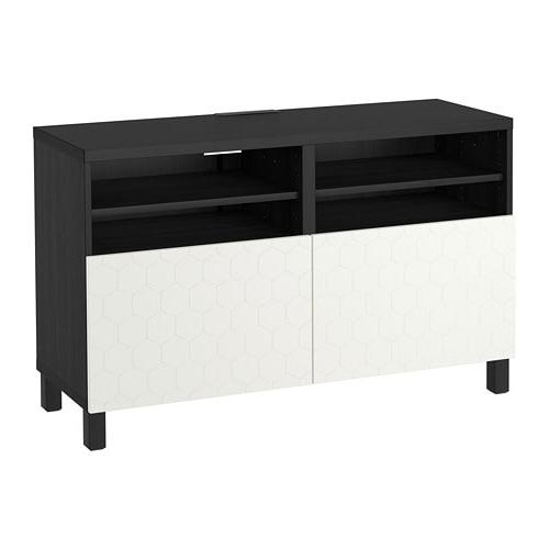 Fashionable Black Tv Cabinets With Doors For Bestå Tv Unit With Doors – Black Brown/vassviken/stubbarp White – Ikea (View 12 of 20)