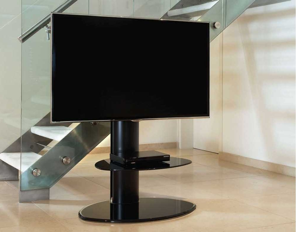 Fashionable Cantilever Tv Stands Regarding Off The Wall Mtn Blk Tv Stands (View 6 of 20)