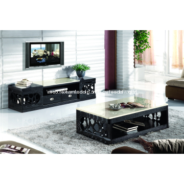Fashionable Cc23#&dc21#, China Marble Top Coffee Table & Tv Cabinet Living Room Regarding Tv Stand Coffee Table Sets (View 6 of 20)