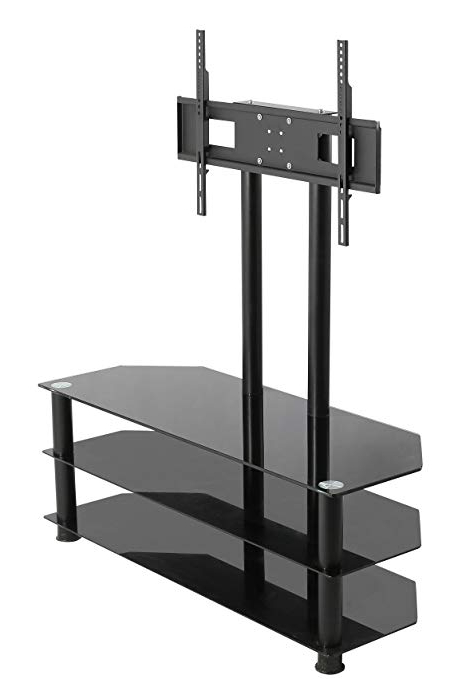 Fashionable Cheap Cantilever Tv Stands Throughout Mountright Cantilever Glass Tv Stand For Up To 60 Inch Screens (View 19 of 20)