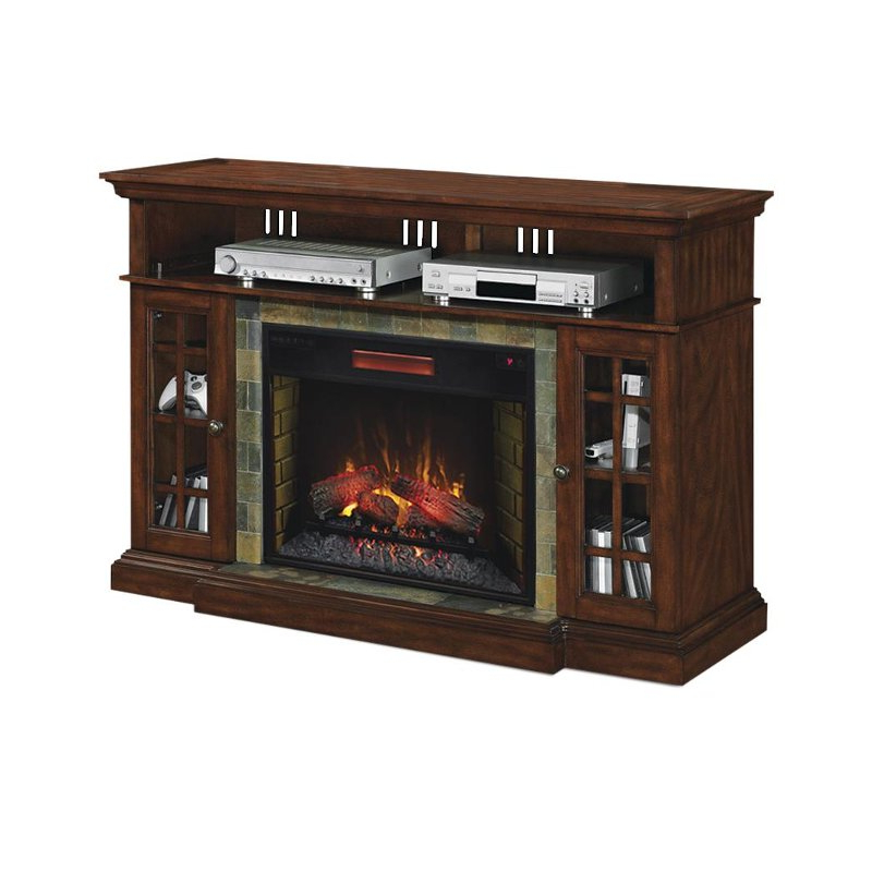 Fashionable Cherry Tv Stands For Cherry Brown Electric Fireplace Tv Stand (View 7 of 20)