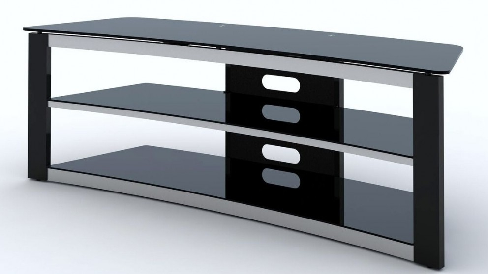 Fashionable Curve Tv Stands Regarding Buy Tauris Crescent 1500Mm Curved Tv Stand – Black (View 8 of 20)