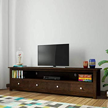 Fashionable Daintree Tv Stands Within Daintree Sheesham Wood 1.96 Meter Dolly 4 Draw Tv Unit Cabinet (Gallery 4 of 20)