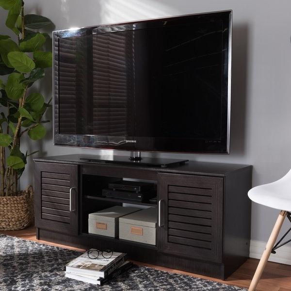 Fashionable Dark Tv Stands For Shop Contemporary Dark Brown Tv Standbaxton Studio – Free (View 10 of 20)