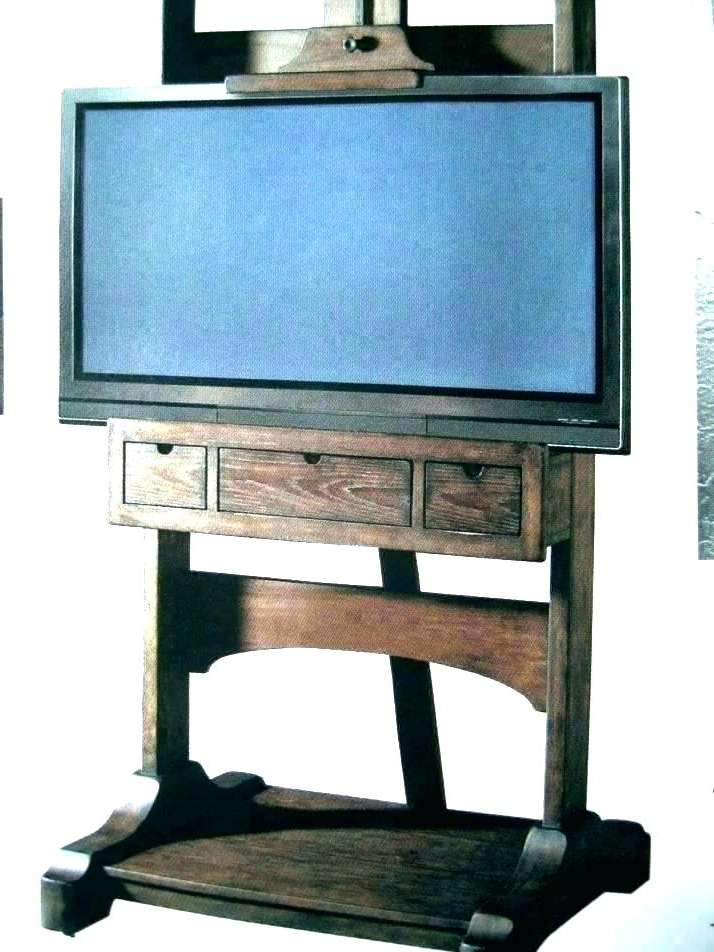 Fashionable Easel Tv Stands For Flat Screens For How To Make A Stand For Flat Screen Plans Stands Screens Easel Tv (View 11 of 20)