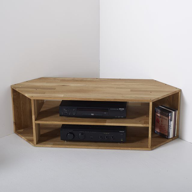 Fashionable Edgar Solid Oak Corner Tv Unit (View 6 of 20)