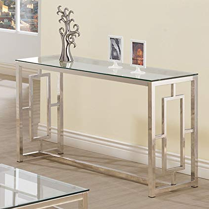 Fashionable Elke Glass Console Tables With Brass Base Regarding Glass Console Tables Far Fetched Elke Table With Brass Base Reviews (View 6 of 20)