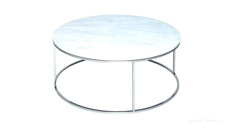 Fashionable Elke Marble Console Tables With Polished Aluminum Base Regarding Elke Round Marble Coffee Table Side Living Room Contemporary Top (View 7 of 20)