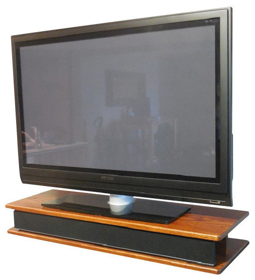 Fashionable Flat Screen Oak Tv Riser For Sound Bar – Traditional – Entertainment Within Tv Riser Stand (View 7 of 20)