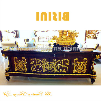 Fashionable Gold Tv Cabinets For Luxury Antique Gold Leaf Tv Stand,bisini Baroque Collection Tv (View 3 of 20)