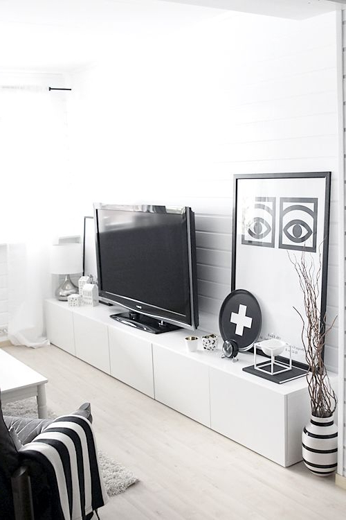 Fashionable Large Black Tv Unit Intended For Ikea Besta Hacks (View 6 of 20)