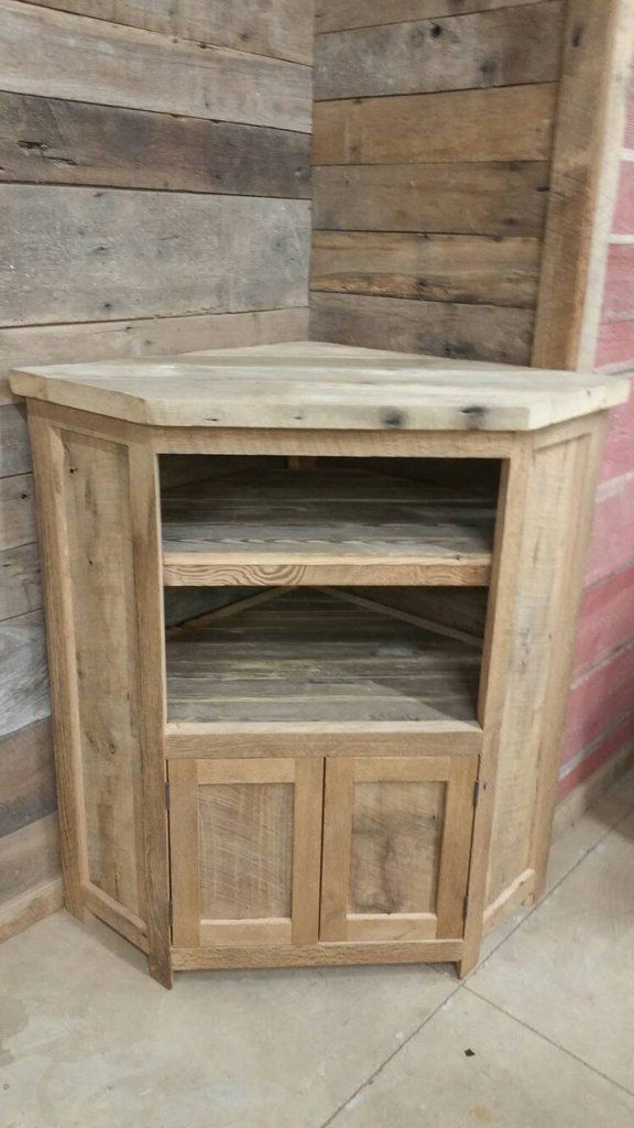 Fashionable Large Corner Tv Stands Regarding Custom Made Rustic Barn Wood Corner Entertainment Center, Tv Stand (View 6 of 20)