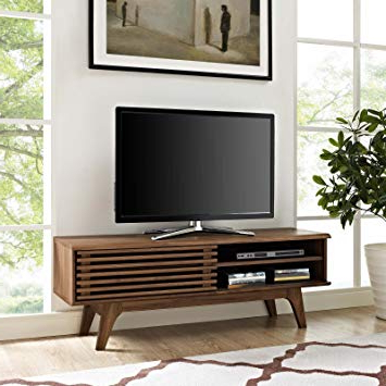 Fashionable Low Profile Contemporary Tv Stands Pertaining To Amazon: Modway Render Mid Century Modern Low Profile 48 Inch Tv (View 11 of 20)