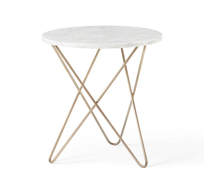 Fashionable Marble Brass Side Table Awesome Elke Round End With Base Reviews Within Elke Marble Console Tables With Brass Base (View 13 of 20)