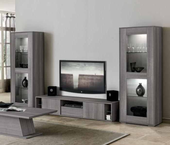 Fashionable Modern Grey Oak Finish Tv Cabinet (View 6 of 20)