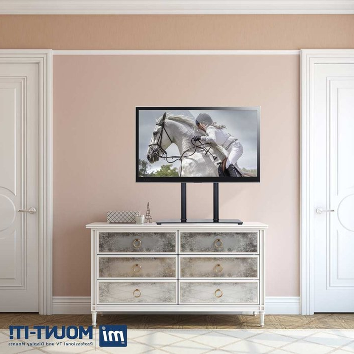 Fashionable Mount It Universal Tabletop Tv Stand And Av Media Fixed Desktop Pertaining To Mayfield Plasma Console Tables (View 6 of 20)