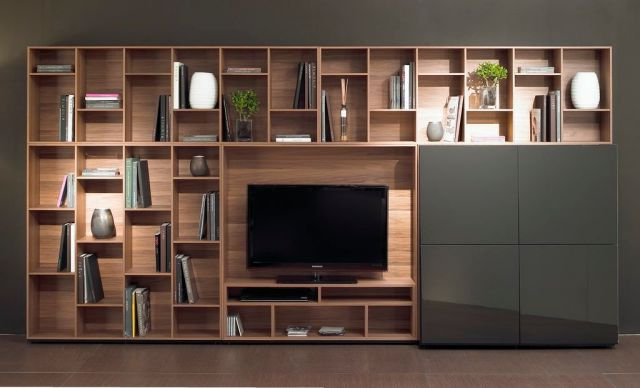 Fashionable Natuzzi Novecento Wall And Tv Units – Wall Storage Systems – Beadle With Tv Units With Storage (View 4 of 20)