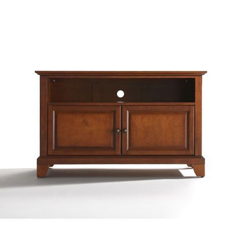 Fashionable Newport 42 Inch Tv Stand In Classic Cherry Finish Crosley Furniture With Regard To Cherry Wood Tv Cabinets (View 9 of 20)