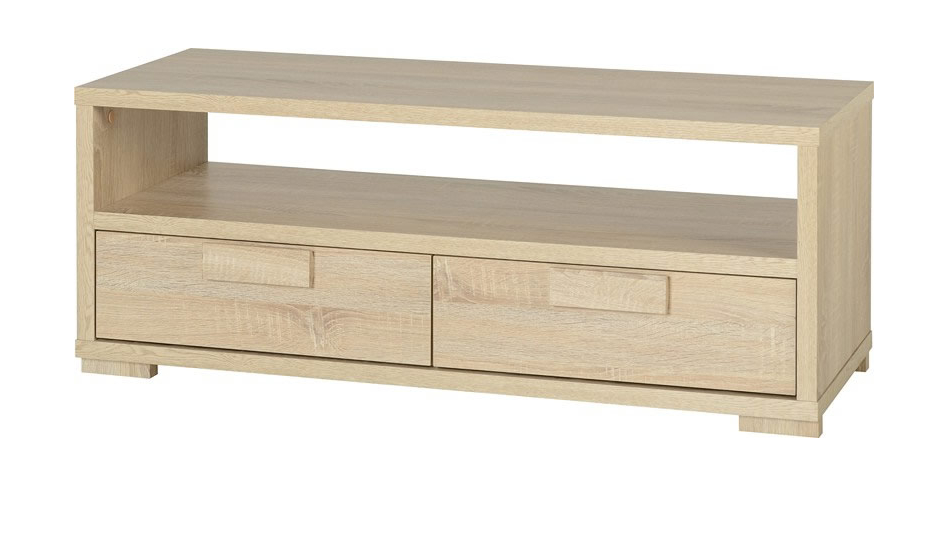 Fashionable Oak Tv Cabinets For Flat Screens Inside Living Rooms : Cambourne 2 Drawer Flat Screen Tv Unit In Sonoma Oak (View 19 of 20)