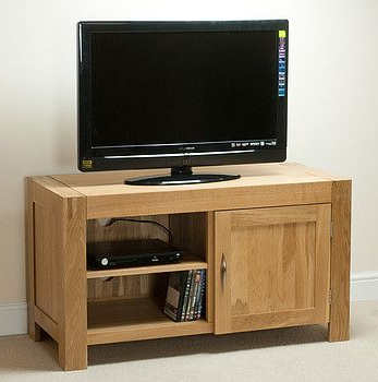 Fashionable Oak Tv Cabinets In Alto Natural Solid Oak Small Tv Cabinet In (View 4 of 20)