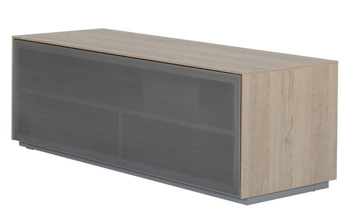 Fashionable Off The Wall Outline 1250 Oak Tv Cabinet With Regard To Glass Fronted Tv Cabinet (View 17 of 20)